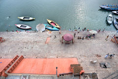 Varanasi (Benares). View of varanasi and the gange river, India Stock Image