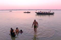 Varanasi bij Ochtend Royalty-vrije Stock Afbeelding