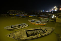 Varanasi city during nigtime Stock Image