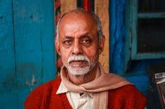 Colorful shopkeeper in varanasi, uttar pradesh, india stock photos