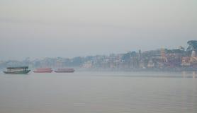 Varanasi city during sunrise Stock Photography