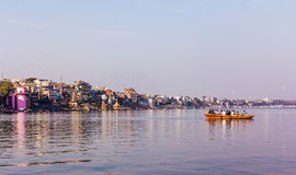 Varanasi cityscape Arkivbilder