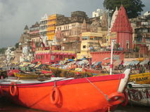 Varanasi de Ganges Foto de Stock Royalty Free