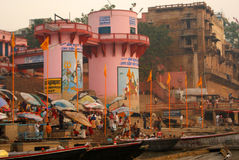 Varanasi du Gange Image stock