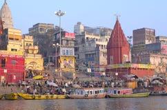 Varanasi el Ganges Imagen de archivo libre de regalías