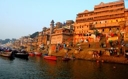 Varanasi Ganga ghat Στοκ Εικόνες