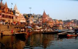 Varanasi Ganga ghat Στοκ εικόνες με δικαίωμα ελεύθερης χρήσης