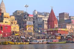 Varanasi ganges Royalty Free Stock Image