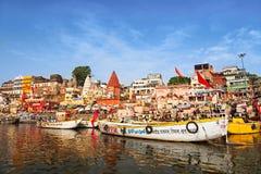 Varanasi ghats Royalty Free Stock Images