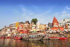 Varanasi ghats Stock Photo