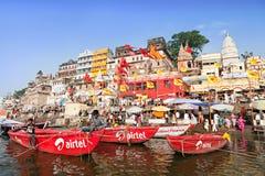 Varanasi ghats Stock Photography