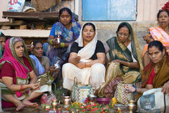 Varanasi Ghats - Indien Lizenzfreie Stockfotografie