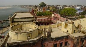 Varanasi horisont Arkivfoton
