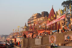 Varanasi, India. Varanasi , also known as, Benares, Banaras  or Kashi is an Indian city on the banks of the Ganga in Uttar Pradesh, 320 kilometres (200 mi) south Stock Images