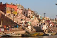 Varanasi, India. Varanasi , also known as, Benares, Banaras  or Kashi is an Indian city on the banks of the Ganga in Uttar Pradesh, 320 kilometres (200 mi) south Royalty Free Stock Images