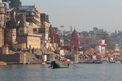 Varanasi, India. Varanasi , also known as, Benares, Banaras  or Kashi is an Indian city on the banks of the Ganga in Uttar Pradesh, 320 kilometres (200 mi) south Royalty Free Stock Photos