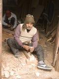 VARANASI, INDIA � DEC 7, 2015: Unidentified Indian Carpenters at Stock Photos