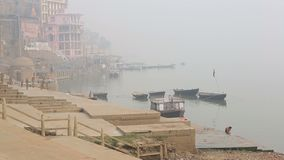 View of Ganges River stock video