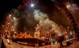 VARANASI, INDIA -  Ganges river and Varanasi ghats Royalty Free Stock Photo