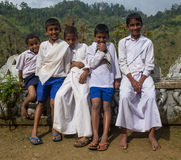 VARANASI, INDIA -  January 1, 2015: Ganges river Stock Images