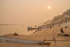 VARANASI, INDIA January 16. River Ganges Royalty Free Stock Images