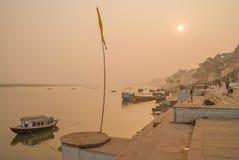 VARANASI, INDIA January 16. River Ganges Stock Image