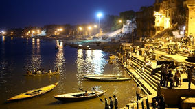 VARANASI, INDIA - MAY 2013: Everyday scene by Ganges River Stock Images