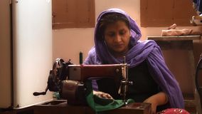 Varanasi, india, seamstress at work