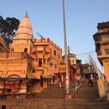 Varanasi India. Varanasi (From Varuna Ghat to Assi Ghat, hence the name Varanasi) (Hindustani pronunciation: [ʋaːˈraːɳəsi] ), also known as Benares royalty free stock photography