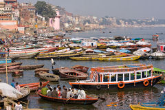 Varanasi Indien. fotografering för bildbyråer