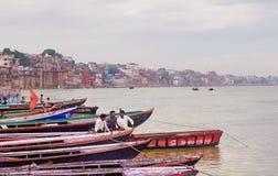 Varanasi Indien Arkivbilder