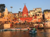 VARANASI INDIEN Royaltyfri Fotografi