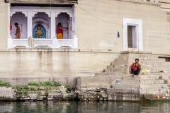 Varanasi indu Zdjęcie Royalty Free