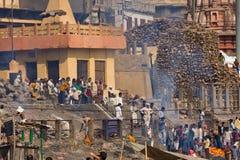 Varanasi, la India Imagenes de archivo