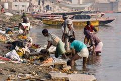 Varanasi, la India. Foto de archivo