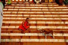 varanasi La India foto de archivo