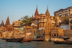 Varanasi morgon Arkivfoto