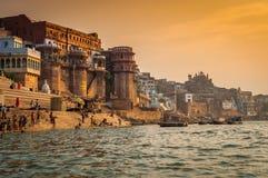 Varanasi morgon Fotografering för Bildbyråer