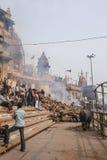 Varanasi Morning at Ganga River Royalty Free Stock Photo