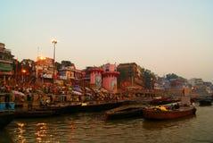Varanasi Od Ganges rzeki zdjęcia royalty free