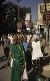 Hindu Devotees Make Their Way to the Ganges stock photo