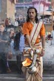 Varanasi puja zdjęcia royalty free