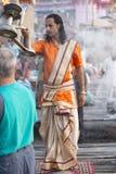 Varanasi puja obraz stock