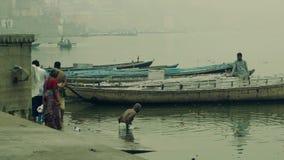 Varanasi, spiritual capital of India. stock video