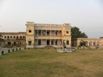 Varanasi, Uttar Pradesh, India - November 1, fort van Ramnagar van 2009 het Oude stock fotografie