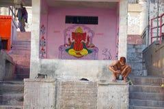 Wall painting near patch ganga ghat varanasi