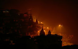 Varanasi Uttar Pradesh, Indien, Asien Arkivbilder