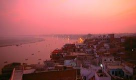 Varanasi Uttar Pradesh, Indien, Asien Fotografering för Bildbyråer