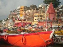 Varanasi vom Ganges Lizenzfreies Stockfoto