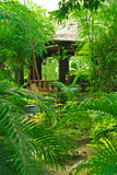 Varanda no jardim tropical Fotos de Stock Royalty Free